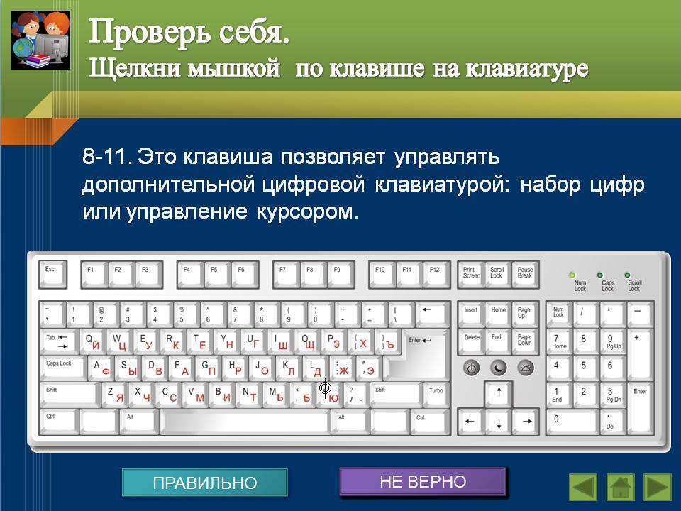 знакомство с клавиатурой презентации